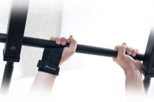 Lifting a barbell using hand grips