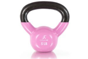 vinyl coated cast iron kettlebell-5lb